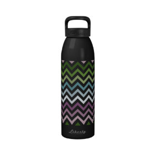 Zickzack Juwel-Töne Wasserflaschen