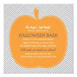 Zickzack Kürbis-Halloween-Party laden ein Personalisierte Einladungskarte