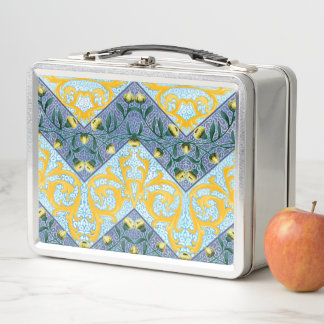 Zickzack mit Filigran geschmückte Zickzack-mit Metall Lunch Box