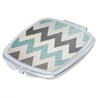 Zickzack Muster auf Metallbeschaffenheit durch Taschenspiegel
