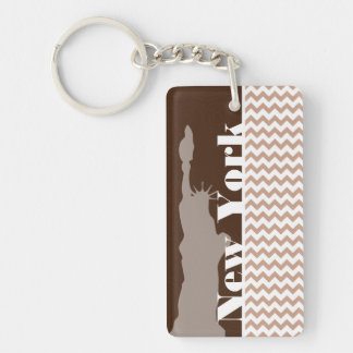 Zickzack Muster Browns; Freiheitsstatue Schlüsselanhänger
