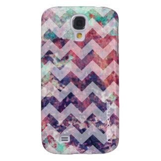 Zickzack Muster des Grunge personalisiert Galaxy S4 Hülle