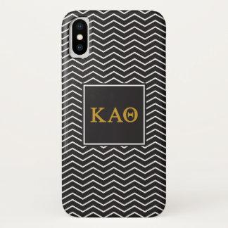 Zickzack Muster des Kappa-Alpha Theta-| iPhone X Hülle