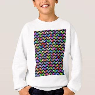 Zickzack Muster-Digital-Kunst-Schwarz-Streifen Sweatshirt