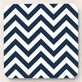Zickzack-Muster-Marine-Blau u. Weiß Untersetzer