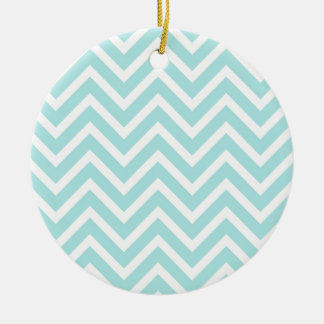 Zickzack-Muster Rundes Keramik Ornament