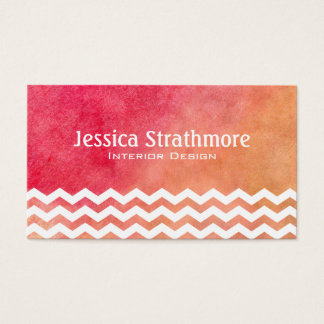 Zickzack orange und rosa visitenkarten