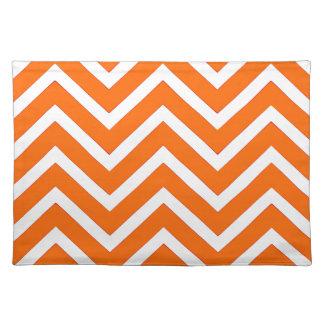 Zickzack orange weißes hübsches cooles Tischset