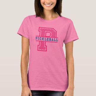 Zickzack P ist für das Shirt der Frauen