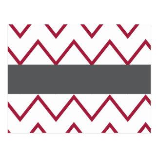 Zickzack Rote und Grau addieren Ihren Text Postkarte