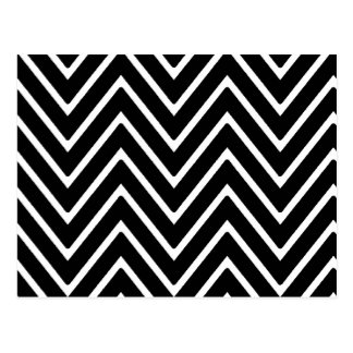 Zickzack Schwarzweiss-Muster 2 Postkarten