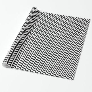 Zickzack Schwarzweiss-Muster Geschenkpapier