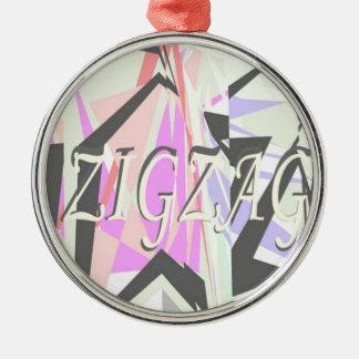 Zickzack Silbernes Ornament