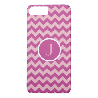 Zickzack Streifen-pinkfarbenes iPhone 8 Plus/7 Plus Hülle