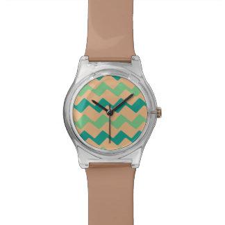 Zickzack Streifen TANs und des Aqua Uhr