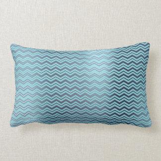 Zickzack Tiffany Marine-Blau-Aqua-metallischer Lendenkissen