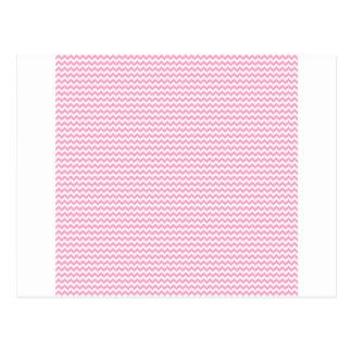 Zickzack - Weiß und Gartennelken-Rosa Postkarte
