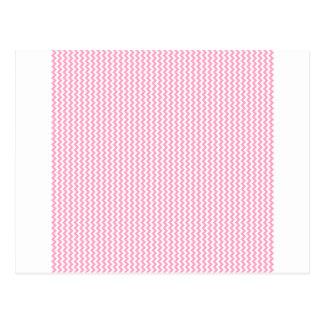 Zickzack - Weiß und Gartennelken-Rosa Postkarten