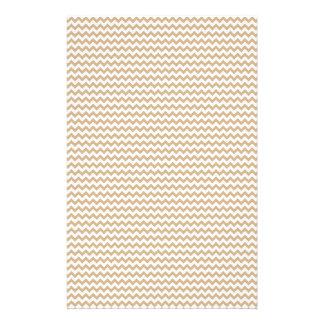 Zickzack - Weiß und TAN Personalisiertes Büropapier