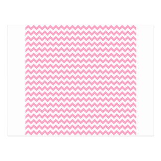 Zickzack weit - Weiß und Gartennelken-Rosa Postkarten