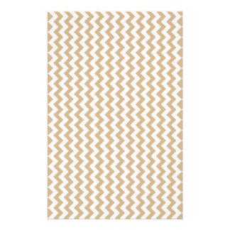 Zickzack weit - Weiß und TAN Druckpapier