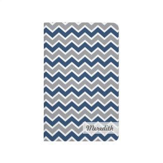 Zickzack Zickzack-Muster-Taschen-Zeitschrift Taschennotizbuch