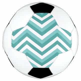 Zickzack Zickzackwassermuster des frischen Fußball