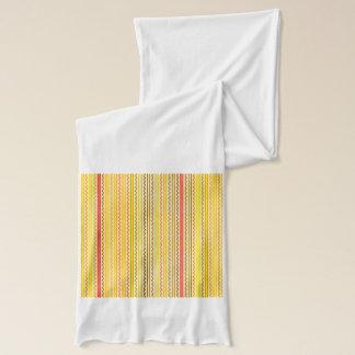 Zickzacke und Streifen orange und gelbe Schatten Schal