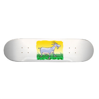 Ziege auf Gras Skateboard Bretter