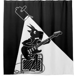 Ziege, die eine E-Gitarre spielt Duschvorhang