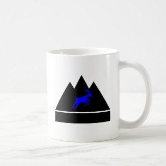 Ziege in einem Berg Kaffeetasse