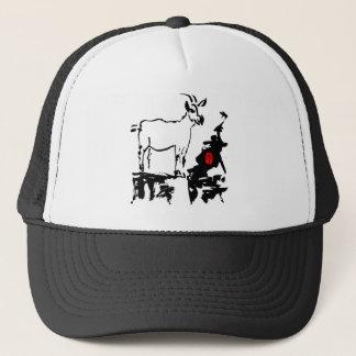 Ziege schaukelt Jahr des Ziegen-chinesischen Truckerkappe