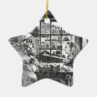 Ziege Shopkeeperand Alice Keramik Ornament