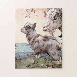 Ziege und Kind durch E.J. Detmold Puzzle