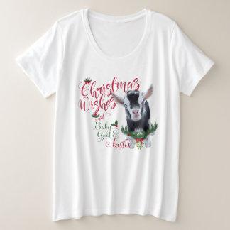 ZIEGE | Weihnachtswunsch-Baby-Ziege küsst Pygmäen Große Größe T-Shirt