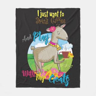 ZIEGE | wollen gerade, um Kaffee-Spiel mit Ziegen Fleecedecke
