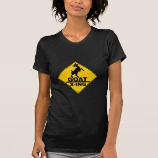Ziege X - ing/ZIEGEN-KREUZENDES WARNZEICHEN T-Shirt