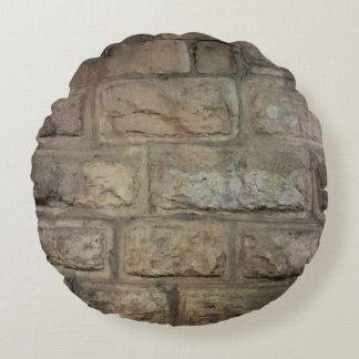 Ziegelstein gebürstetes Polyester-rundes Rundes Kissen