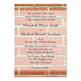 Ziegelstein-Hochzeits-Einladung 12,7 X 17,8 Cm Einladungskarte