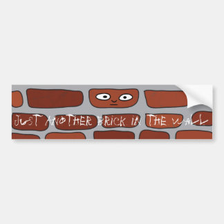 Ziegelstein in der Wand Autoaufkleber