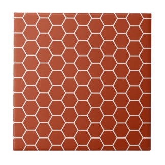 Ziegelstein-Rot-geometrisches Bienenwaben-Muster Keramikfliese
