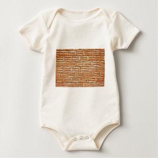 Ziegelstein-Tapeten-Vintage Baby Strampler