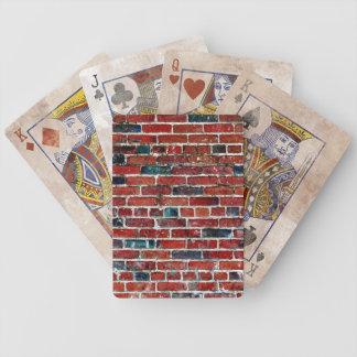 Ziegelstein-Wand-coole Beschaffenheit Bicycle Spielkarten