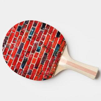 Ziegelstein-Wand-coole Beschaffenheit Tischtennis Schläger