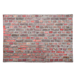 Ziegelsteinwandhintergrund - roter Vintager Stein Stofftischset