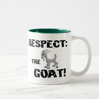 Ziegen-Haustier-Vieh-Respekt-Ziegen-Ehemann-Vati Zweifarbige Tasse