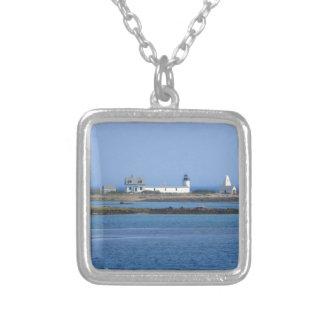 Ziegen-Insel-Leuchtturm Versilberte Kette
