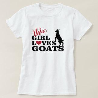 ZIEGEN-LIEBE | dieses Mädchen-Liebe-Ziegen-Baby T-Shirt