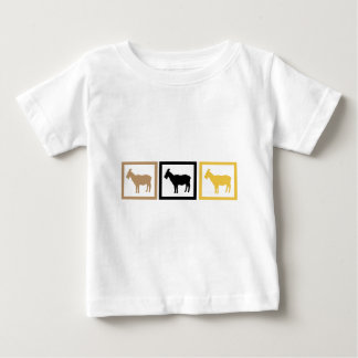 Ziegen-Quadrate Baby T-shirt
