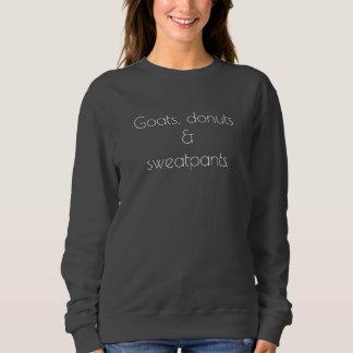 Ziegen, Schaumgummiringe u. sweatpants Sweatshirt